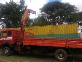 Lifting Cranes and self loaders for hire in Kenya. Heavy lifting and transport.