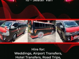 10 SEATER VAN FOR HIRE